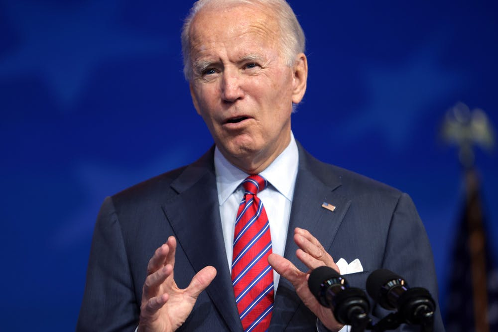 President-elect Joe Biden speaks Dec. 4 in Wilmington, Delaware.