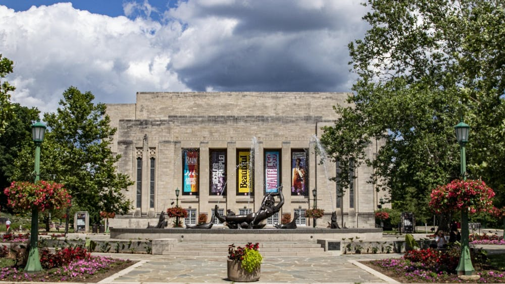 The IU Auditorium is located at 1211 E. Seventh St.