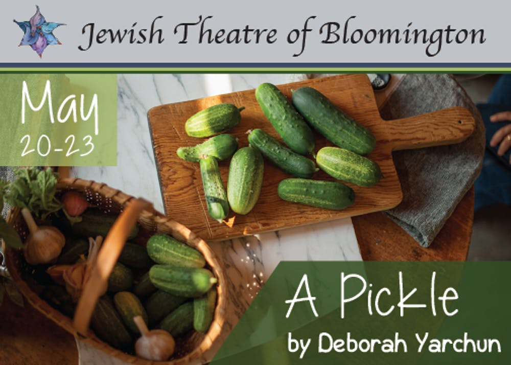 <p>An advertisement for &quot;A Pickle&quot; appears. The one-woman show is about Doris Rubenstein, who submitted her kosher pickles into a pickle-making contest at the Minnesota State Fair but was rejected because the judges didn&#x27;t understand her unique process.</p>