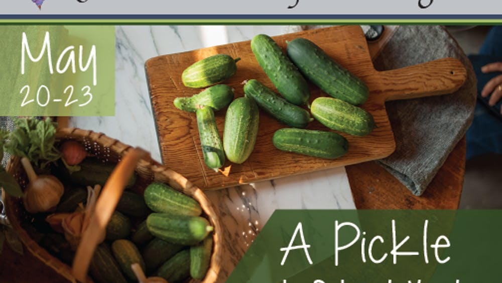 """An advertisement for """"A Pickle"""" appears. The one-woman show is about Doris Rubenstein, who submitted her kosher pickles into a pickle-making contest at the Minnesota State Fair but was rejected because the judges didn't understand her unique process."""
