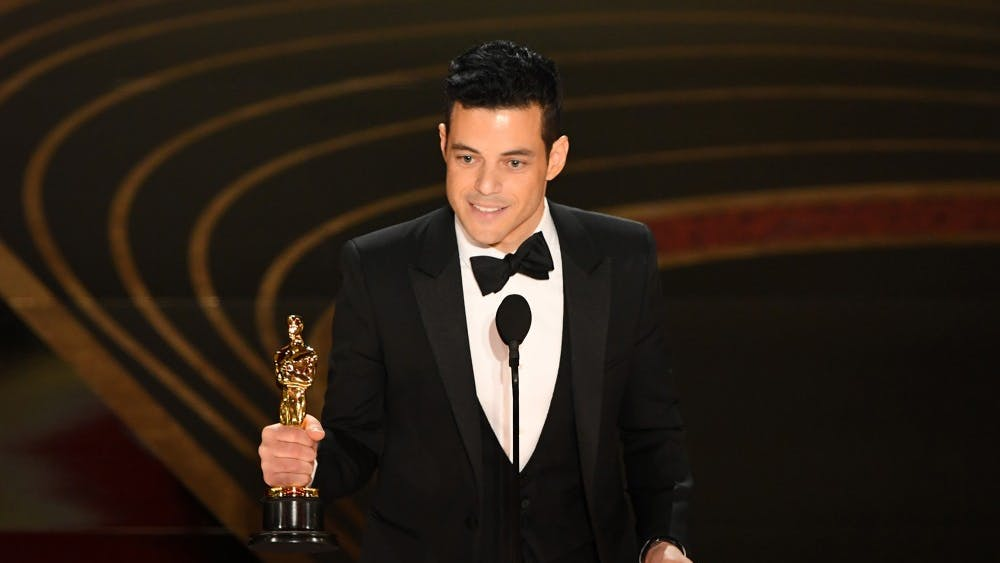 """Rami Malek, the Best Actor nominee for """"Bohemian Rhapsody,"""" accepts the award for Best Actor on Feb. 24 during the 91st Annual Academy Awards at the Dolby Theatre in Hollywood, California."""