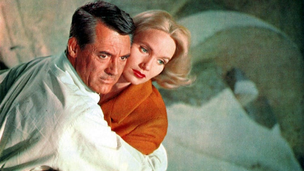 """Cary Grant and Eva Marie Saint in """"North by Northwest."""""""