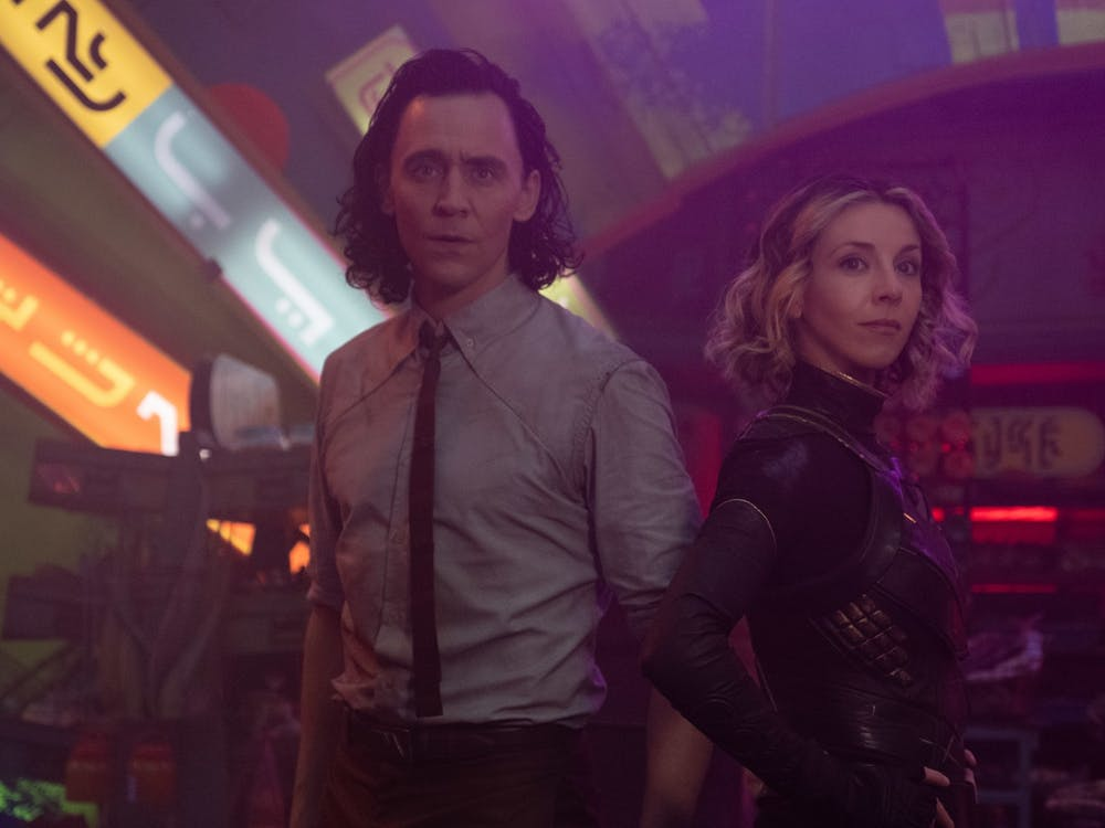 """Loki and Sylvie stand next to one another in the Disney Plus series """"Loki"""". The series finale began streaming Wednesday."""