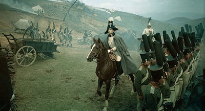 "A still from the film ""War and Peace."""