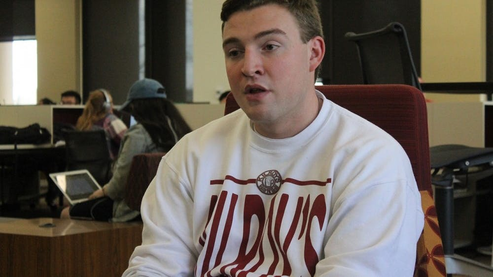 Andrew Cowie, president of the Interfraternity Council, in an interview with the IDS in March 2017.