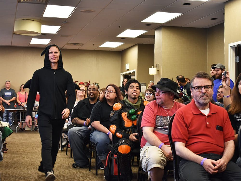 Contestants compete in the Adult Cosplay Contest for the best hero and villain categories.The Indiana Toy and Comic Expo at the Monroe County Convention Center included panels, food trucks and a cosplay contest.