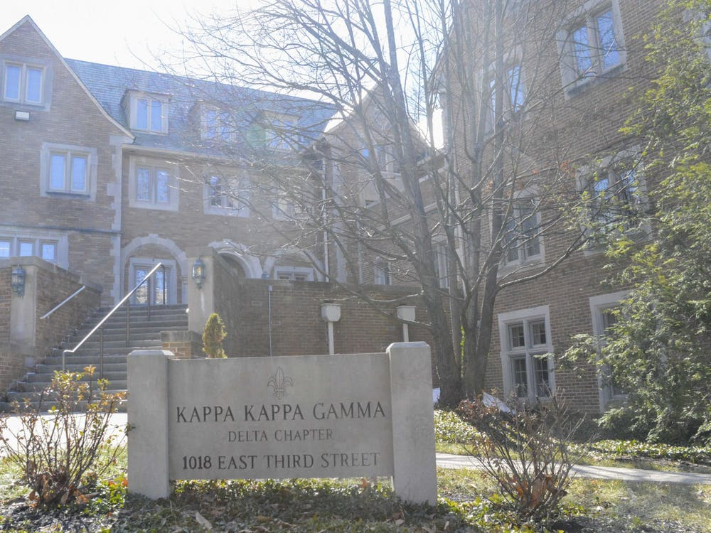 Kappa Kappa Gamma is located on E. 3rd Street, March 1, 2021. The sorority was placed on probation in June.