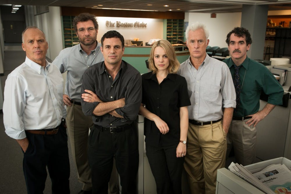"""<p>""""Spotlight,"""" which was released in 2015, tells the true story of how the Boston Globe uncovered the massive scandal of child molestation and cover-up within the local Catholic Archdiocese.</p>"""