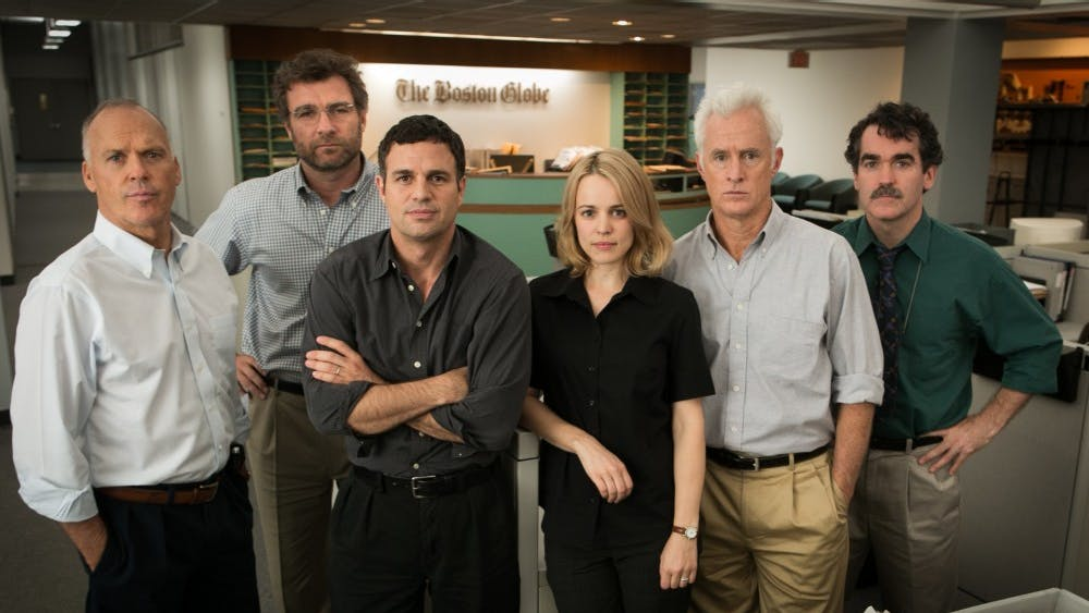 """Spotlight,"" which was released in 2015, tells the true story of how the Boston Globe uncovered the massive scandal of child molestation and cover-up within the local Catholic Archdiocese."