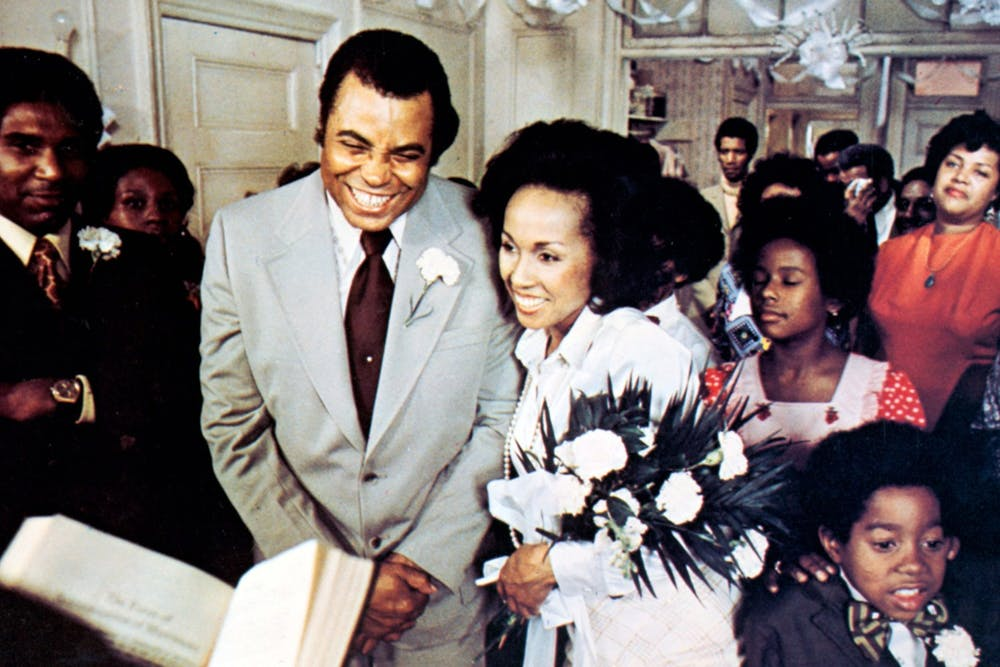 <p>Claudine Price, played by Diahann Carroll, and Rupert &quot;Roop&quot; Marshall, played by James Earl Jones, stand during a scene in &quot;Claudine&quot;. The Black Film Center/Archive will show the film at 7 p.m. Thursday as part of its &quot;Love! I&#x27;m in Love!&quot; film series. </p>