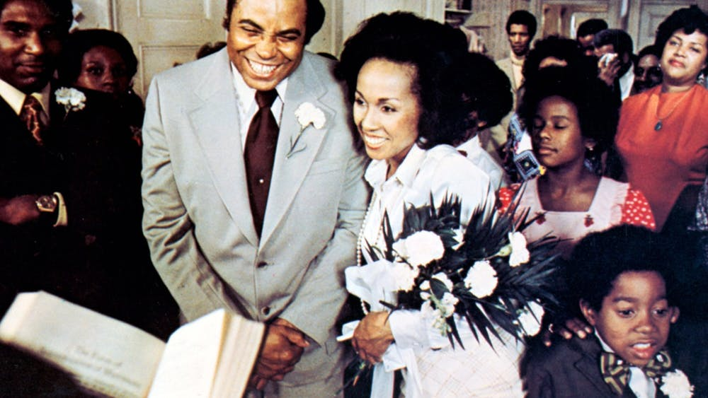 """Claudine Price, played by Diahann Carroll, and Rupert """"Roop"""" Marshall, played by James Earl Jones, stand during a scene in """"Claudine"""". The Black Film Center/Archive will show the film at 7 p.m. Thursday as part of its """"Love! I'm in Love!"""" film series."""