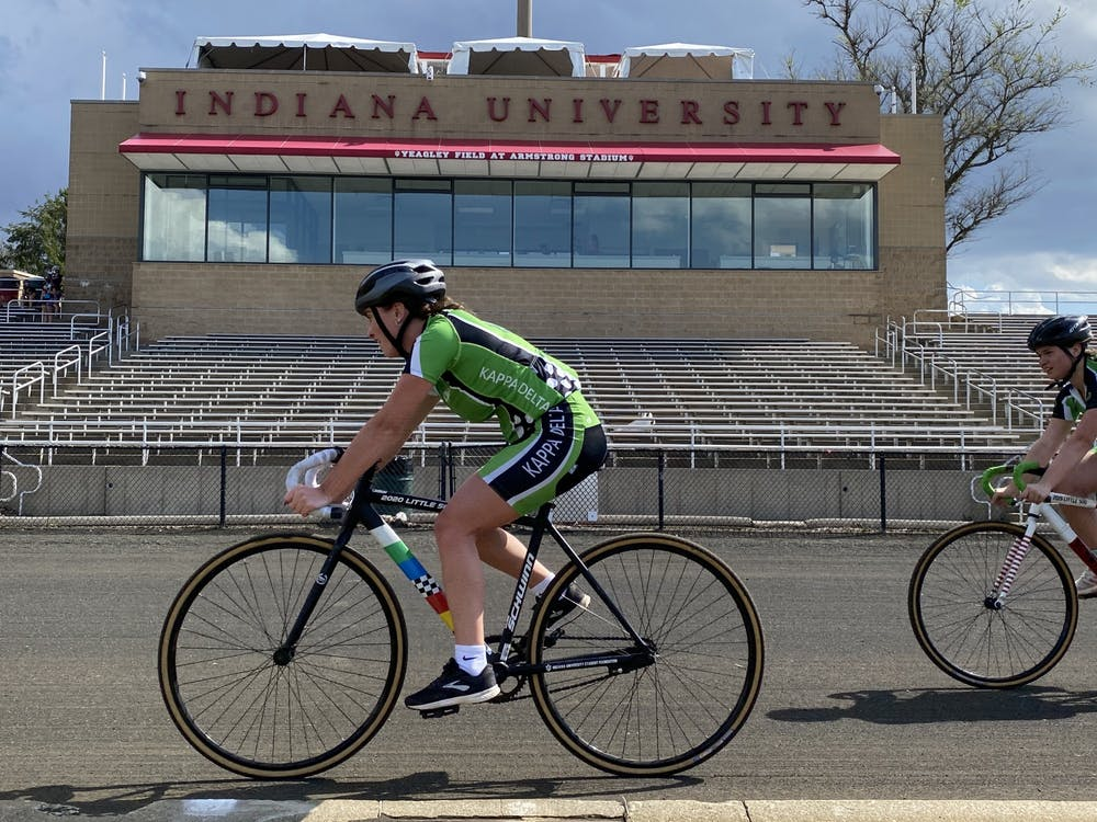 <p>The Kappa Delta team practices at Bill Armstrong Stadium on Friday. Alpha Xi Delta recorded the best women&#x27;s time and JETBLACH had the best men&#x27;s time.</p>