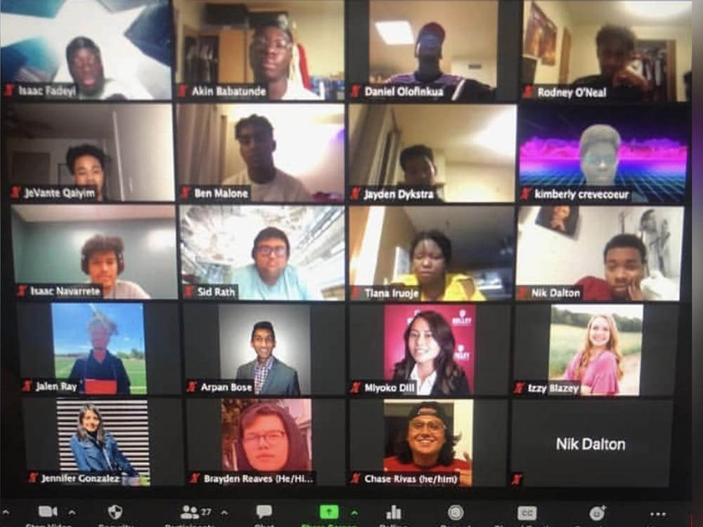 Underrepresented Students in Tech members offer a Zoom event in fall 2020. The organization focuses on underrepresented students in technology.