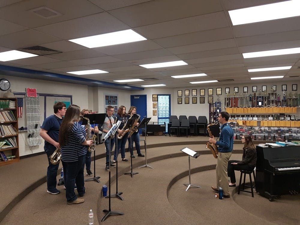 <p>The Jacobs School of Music student-run organization Classical Connections brought a music workshop to Brown County High School this past weekend. The workshop, which was created in collaboration with the IU Center for Rural Engagement, started Friday and ended Saturday evening. </p>