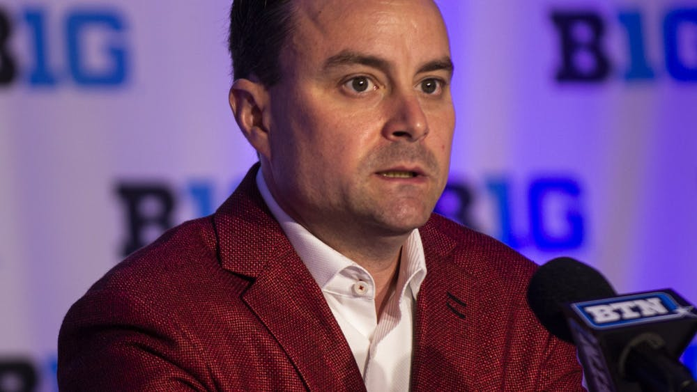 IU men's basketball head coach Archie Miller speaks Oct. 2, 2019, at Big Ten Basketball Media Day in Rosemont, Illinois. IU parted ways with Miller on March 15, per Jeff Goodman on Twitter.