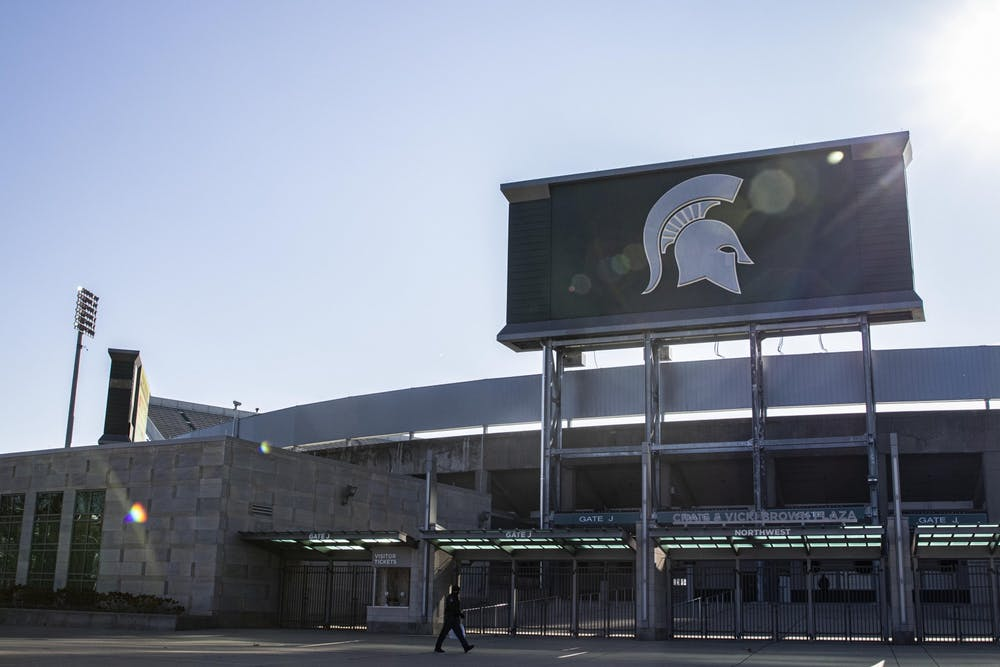 The sun shines on Spartan Stadium on Nov. 14 in East Lansing, Michigan. No. 10 IU defeated Michigan State 24-0.