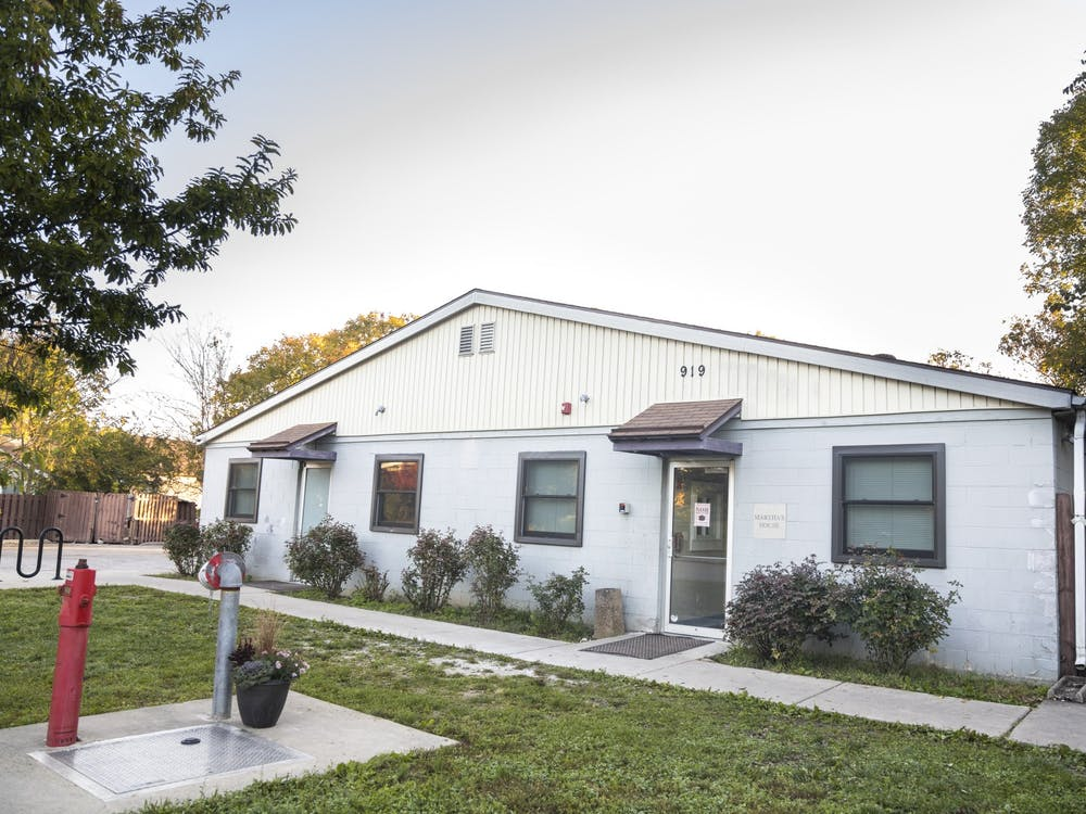 The Friend's Place shelter is seen Oct. 20, 2021, at 919 S. Rogers St. Formerly known as Martha's House, the shelter provides services for Bloomington's unhoused population.