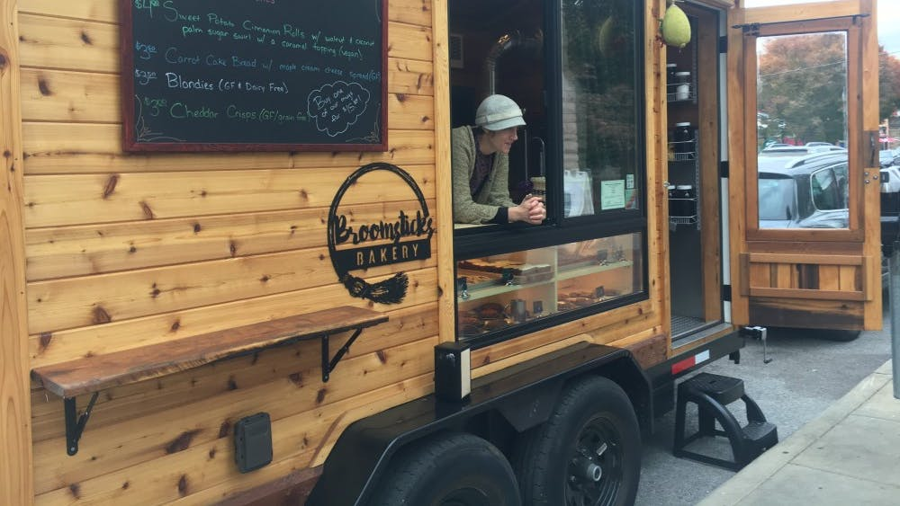 Broomsticks Bakery is a food truck that has started going out since the last week of September to sell baked goods. The truck, which is open in front of Harmony School on East Second Street on Fridays, serves from-scratch baked goods.