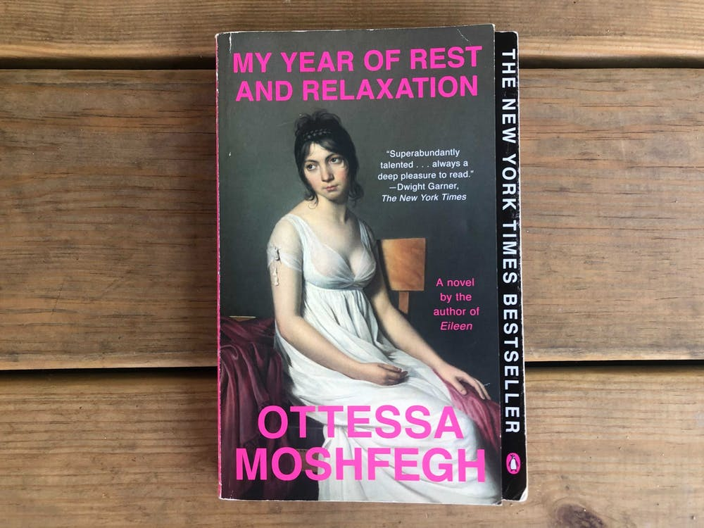 """""""My Year of Rest and Relaxation"""" is a 2018 novel by Ottesa Moshfegh."""