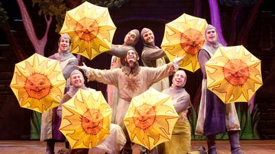 Spamalot performers dance at 8 p.m. Oct. 30 in the IU Auditorium. The musical will play Oct. 31 at the same time.