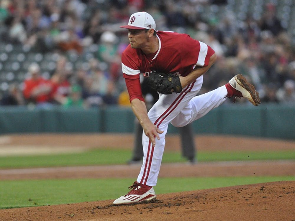 Senior starting pitcher Luke Stephenson pitched 4 innings and gave up 5 runs in the Hoosiers' loss to Notre Dame at Victory Field in Indianapolis on Tuesday.