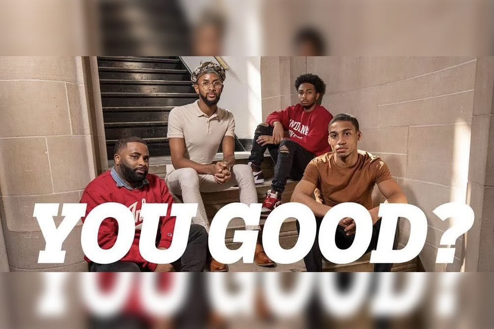 <p>Participants of the IU &quot;You Good?&quot; event pose for a promotional photo. The &quot;You Good?&quot; initiative, created and launched in March in partnership with Counseling and Psychological Services, aims to facilitate a conversation regarding mental health with the Black men of IU and Bloomington in a more relaxed environment than formal counseling.</p>