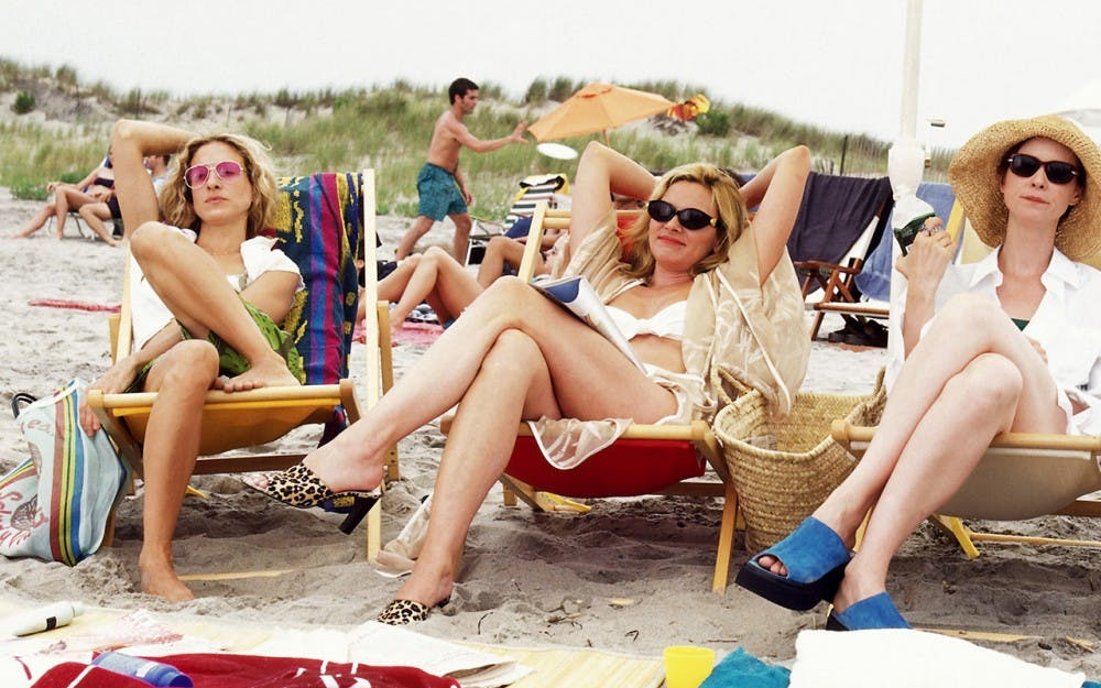 """<p>In one particularly famous episode, the women of """"Sex and the City"""" head to the beach to crash a college spring break.</p>"""