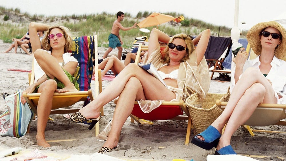 """In one particularly famous episode, the women of """"Sex and the City"""" head to the beach to crash a college spring break."""