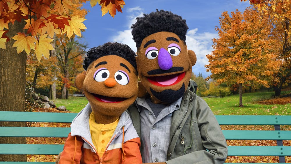 "Wes and Elijah, two new additions to Sesame Street's cast of muppets, appear. The characters will star in the new series ""ABCs of Racial Literacy."""