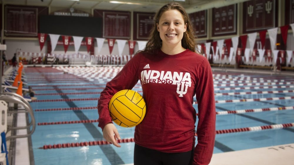 Junior Emily Powell is the captain of IU's water polo team. Powell is from Brisbane, Australia, and is an international relations major.