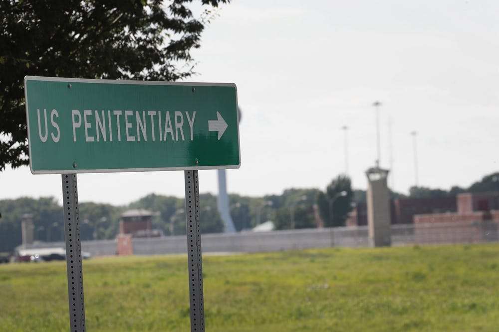 <p>A sign directs visitors to the entrance of the Federal Correctional Complex, Terre Haute on July 25, 2019, in Terre Haute, Indiana. WTIU and WFIU reporters tested positive for COVID-19 after covering the Trump administration&#x27;s federal executions there.</p>