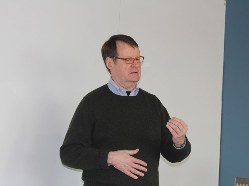 Mark Minton, IU professor, shared his thoughts and experiences with IU studentsThursday evening in the School of Global and International Studies.As a former ambassador to Mongolia anddeputy ambassadorto South Korea, he spoke about North Korea and its past and presenthuman rights violations.