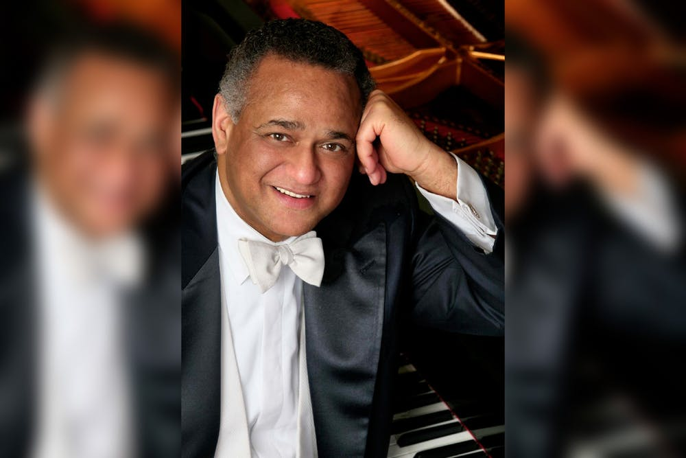 <p>Grammy-award winning pianist and IU professor Andre Watts poses for a photo. Watts has been elected into the American Philosophical Society.</p>
