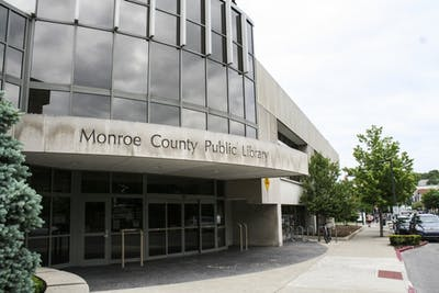 The Monroe County Public Library is located on Kirkwood Avenue and was founded in 1820.
