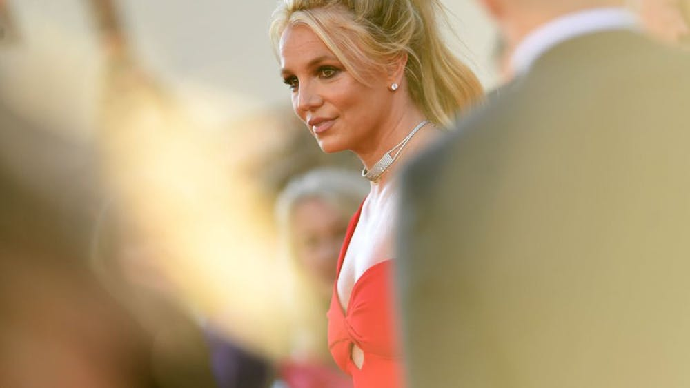 """Britney Spears arrives for the premiere of Sony Pictures' """"Once Upon a Time... in Hollywood"""" on July 22, 2019, at the TCL Chinese Theatre in Hollywood, California."""