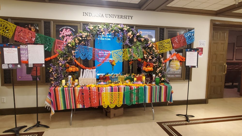 An ofrenda is pictured in the Indiana Memorial Union. IU's La Casa Latino Cultural Center collaborated with student groups and IU academic departments to host virtual events for Día de los Muertos, or Day of the Dead, starting Oct. 26 and ending Oct. 29.