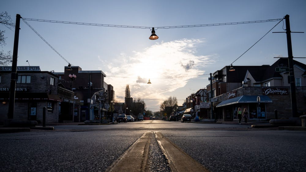 Kirkwood Avenue is pictured April 8, 2020. The City of Bloomington opened applications for the Racial Equity Task Force, a new, resident-led group with a mission of addressing racial issues in Bloomington, on Jan. 27.