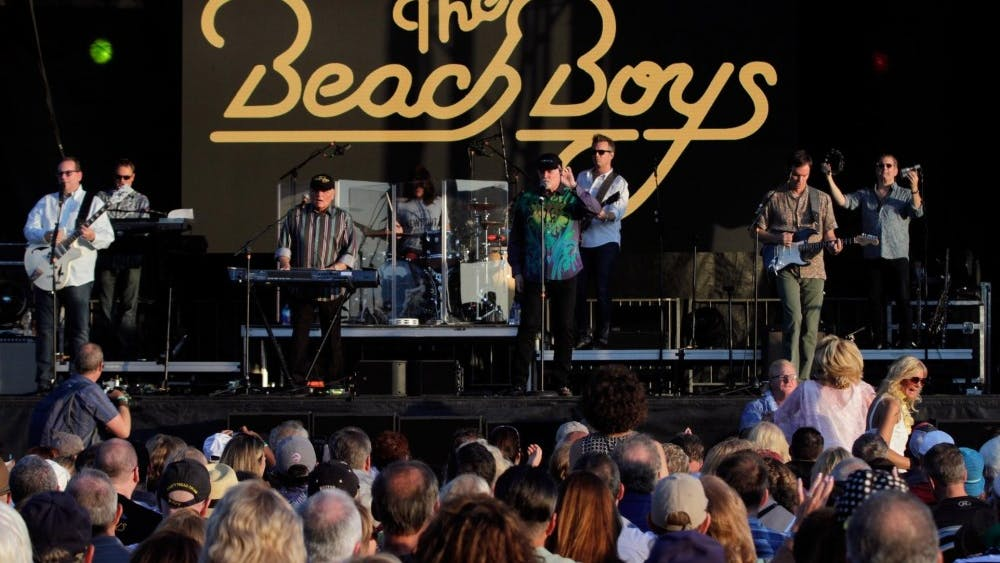 The Beach Boys performs in 2017 at Bold Point Park in East Providence.