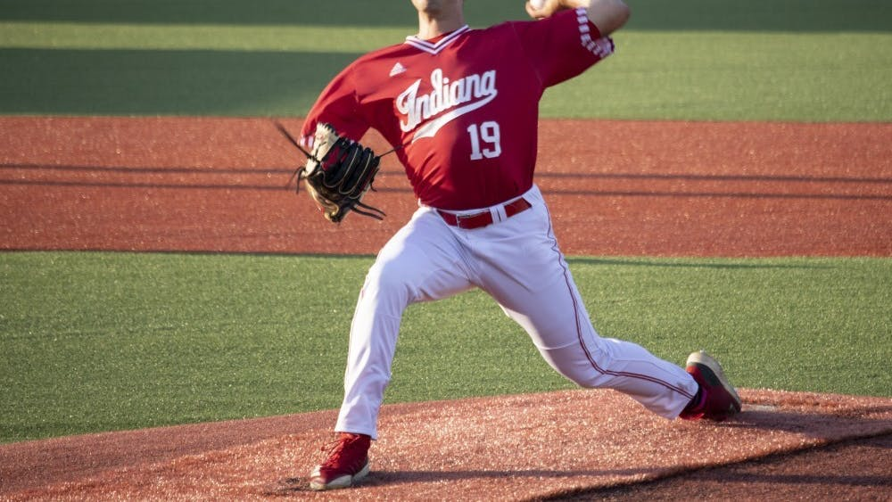 Then-sophomore left-handed pitcher Tommy Sommer pitches the ball against the University of Louisville on May 14, 2019, at Bart Kaufman Field. Sommer said that his dad's encouragement allowed him to give up soccer and pursue baseball.