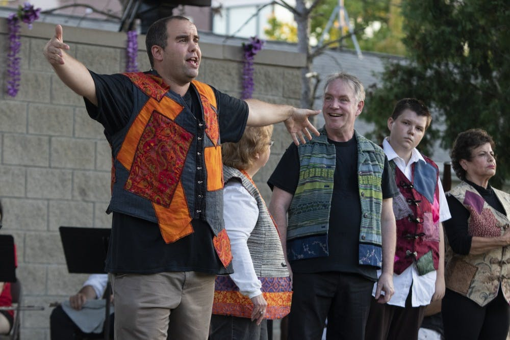 "<p>Actors perform Sept. 12 at Third Street Park. The Monroe County Civic Theater celebrated its 30th anniversary of Shakespeare in the Park by performing ""A Midsummer Night's Dream.""</p>"