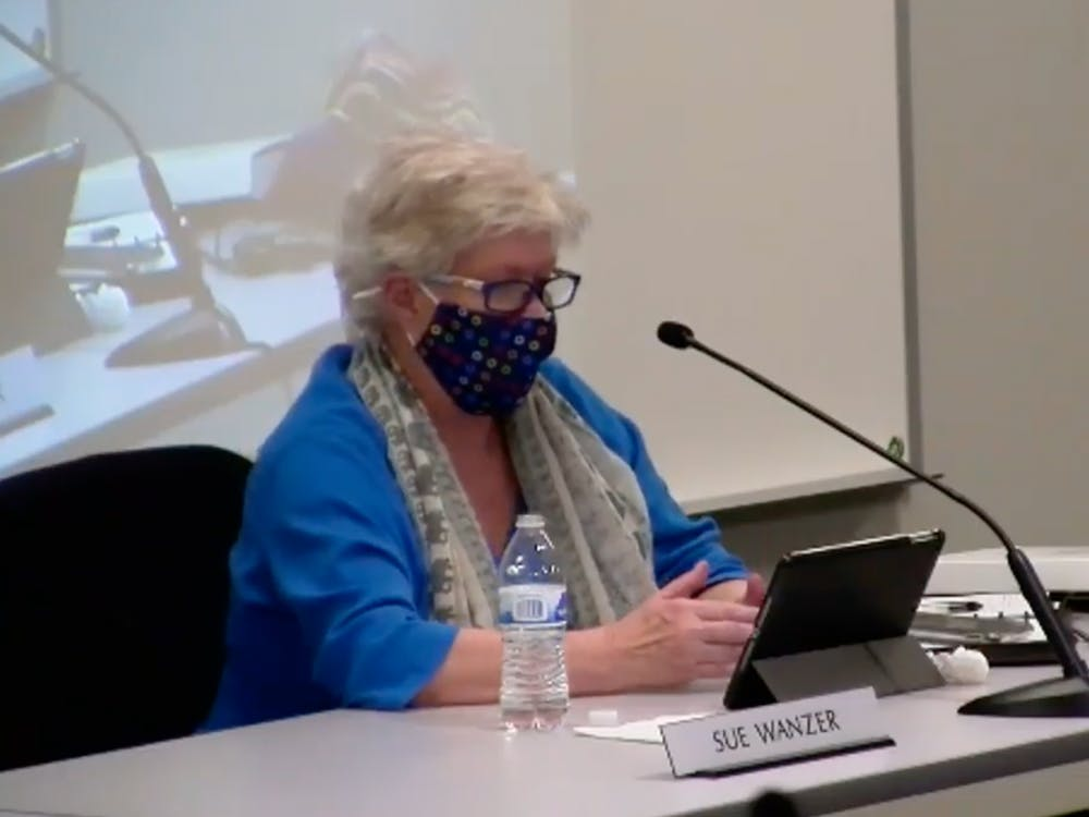 Monroe County Community School Corporation board member Sue Wanzer attends her last meeting as the District 2 board representative Dec. 15 over Zoom. Wanzer has been on the board for the past 20 years.