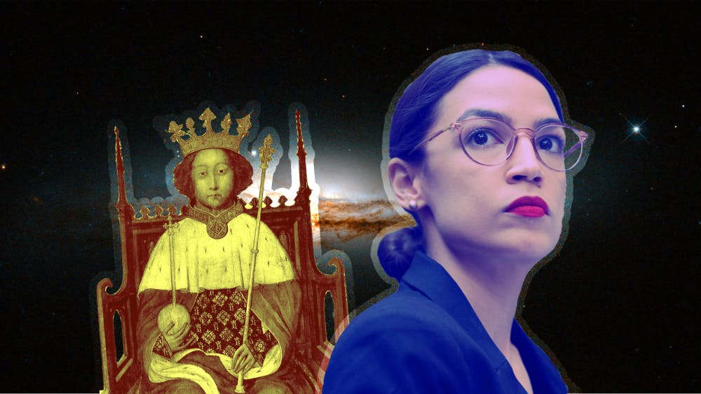 <p>Astrology columnist Kathryn de la Rosa compares Shakespeare&#x27;s historical King Richard II&#x27;s birth chart to Rep. Alexandria Ocasio-Cortez, D-14th District. </p><p>Rep. Full<br/>Name, D-9th District, attended the<br/>conference. </p>