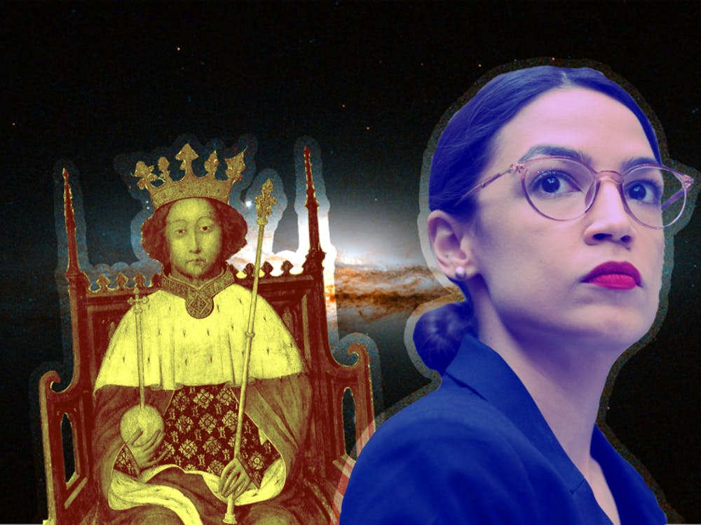 Astrology columnist Kathryn de la Rosa compares Shakespeare's historical King Richard II's birth chart to Rep. Alexandria Ocasio-Cortez, D-14th District. Rep. FullName, D-9th District, attended theconference.