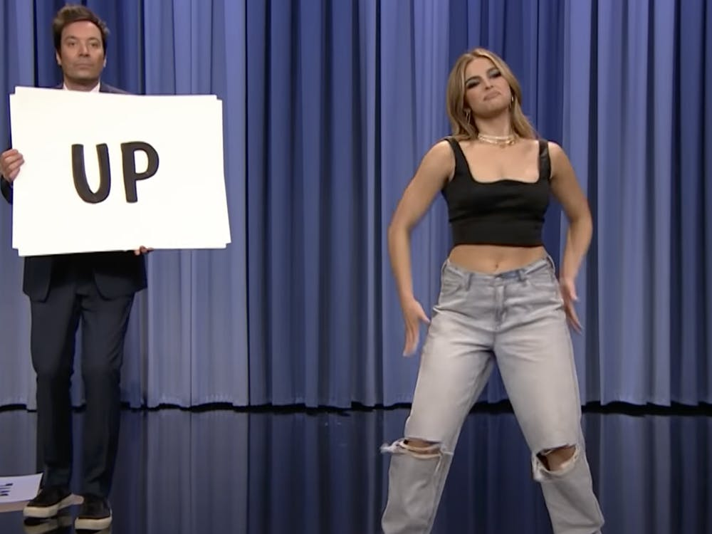 Influencer Addison Rae performs Tik Tok dances March 26 on the Tonight Show Starring Jimmy Fallon. Rae received backlash for not giving credit to Black creators that came up with the dances she performed.
