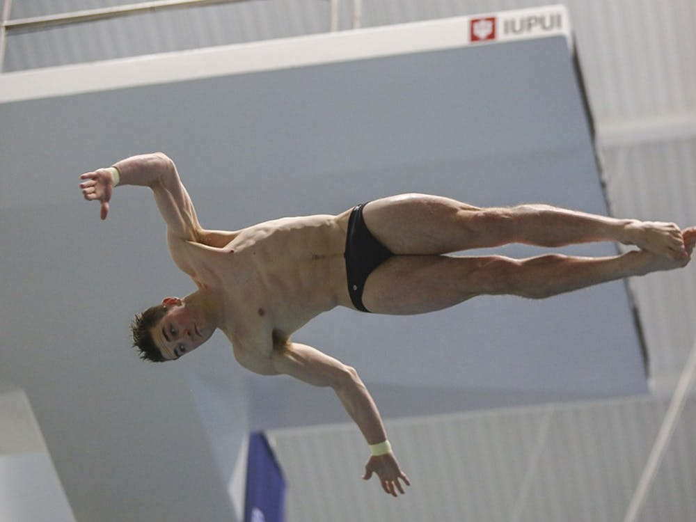 Sophomore James Connor competes in the NCAA Swimming and Diving Championships on Friday, March 24, 2017. Connor, representing Team Australia, finished 9th in the final of the 3-meter dive at the 2017 FINA World Championships Thursday in Budapest, Hungary.