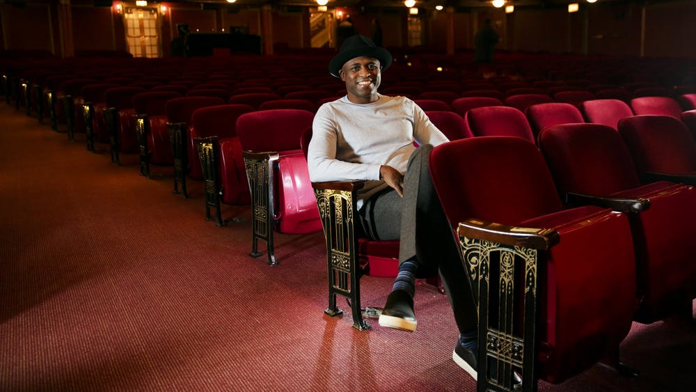 Comedian Wayne Brady relaxes before a performance Jan. 31, 2017, in Chicago. Brady will perform live improv from his studio in a livestream event April 21 by IU Auditorium.