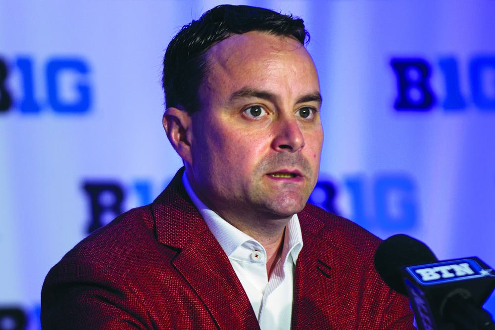 IU head basketball coach Archie Miller speaks Oct. 2 at Big Ten Basketball Media Day in Rosemont, Illinois.