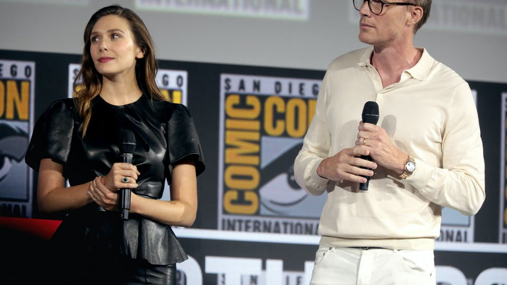 GAGE SKIDMORE/CC BY-SA 2.0 Elizabeth Olsen and Paul Bettany star in Disney+'s WandaVision.