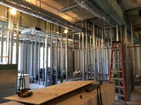 COURTESY OF RUDY MALCOM Construction on the new SDS office will be completed this October.