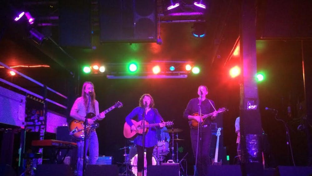 Courtesy of SARAH SCHREIB  Folk group Sweet Saro played an engaging set at The Ottobar.